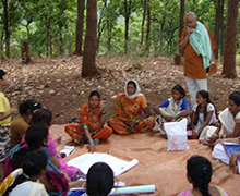 Learning from villagers in East Umar Gaon, Anuppur District, Madhya Pradesh, June 2014