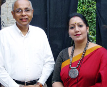 With Jayati Chakraborty, a leading exponent of Tagore Songs