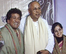 With Manoj and Manisha Nair, noted Tagore Song Singers