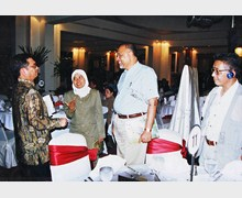 With Hon. Minister for Environment, Govt. of Indonesia, 2005